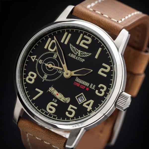 Russian Mechanical Watch Aviator TALALIHIN Poljot 3105 ...