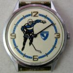 Soviet mechanical watch Chaika Hockey USSR 1980s