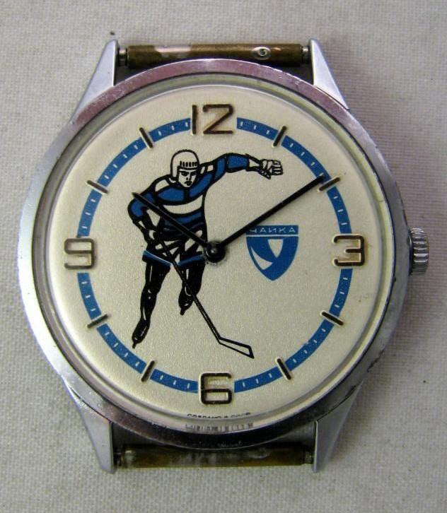 Soviet mechanical watch Chaika Hockey USSR 1980s