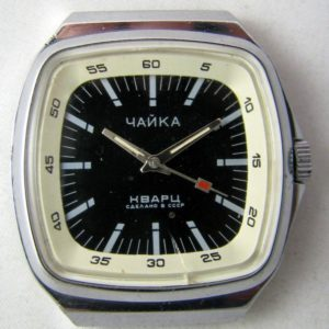 Soviet quartz watch Chaika 3056A USSR 1980s
