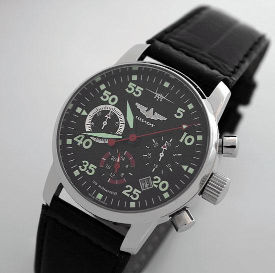 Russian Chronograph Watch Pilot Aviator Berkut 31681