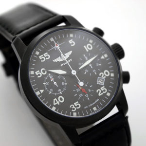 Russian Chronograph Watch Pilot Aviator Berkut 31681 Black