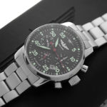 Russian Chronograph Watch Pilot Aviator Berkut 31681 w/ stainless steel band-2