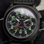 Russian Chronograph Watch Pilot Poljot 3133 Black
