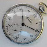 Russian mechanical pocket watch Crystal Molnija USSR 1970s