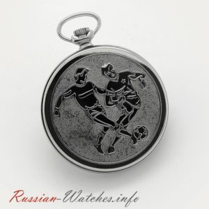 Russian Mechanical Pocket Watch Molnija FC Dynamo Moscow USSR 1973