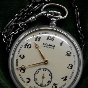 Soviet pocket watch Molnija Serkisof Demiryolu Railroad USSR 1970s