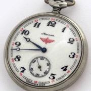 Soviet mechanical pocket watch Molnija Serkisof USSR 1989