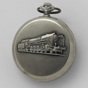 Soviet mechanical pocket watch Molnija Serkisof USSR 1989