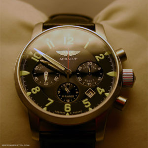 Russian military chronograph watch Poljot Aviator 31681 / 6975607
