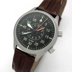 Russian mechanical alarm watch Poljot 2612.1 Aviator
