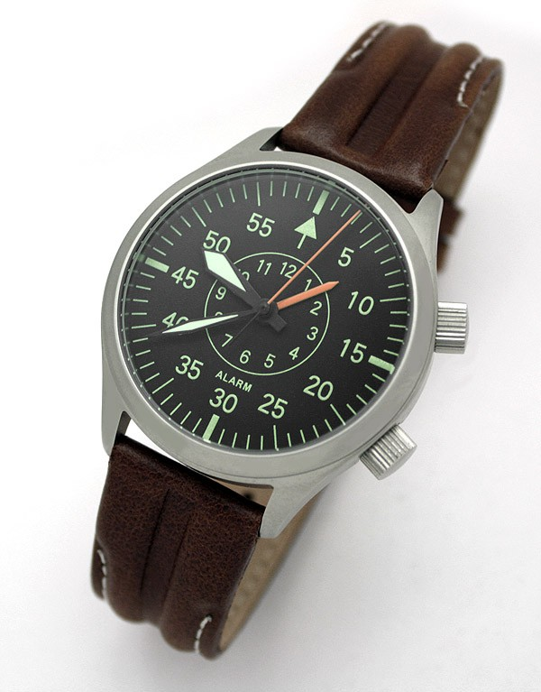 Russian mechanical alarm watch poljot 2612 1 aviator all russian watches for Foljot watches