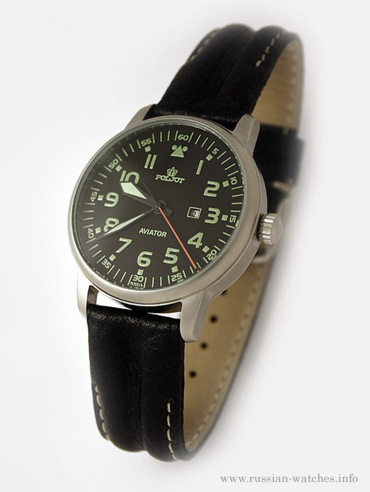 Russian mechanical watch POLJOT AVIATOR Z2014A-2