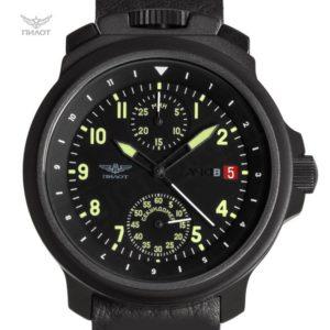 Russian Chronograph Watch Pilot Aviator BORTOVIE 3133 Black/Green