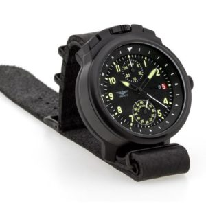 Russian Chronograph Watch Pilot Aviator BORTOVIE 3133 Black/Green