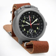 Russian Chronograph Watch Pilot Aviator BORTOVIE 3133 Grey/Green