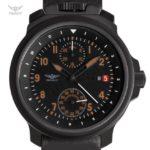Russian Chronograph Watch Pilot Aviator BORTOVIE 3133 Black/Orange
