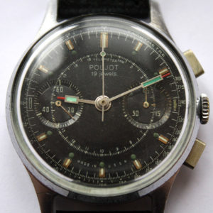 Poljot 3017 Military Chronograph Watch Black USSR 1960s