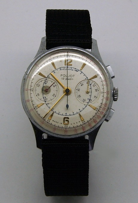 Soviet Vintage Poljot 3017 Military Chronograph Watch