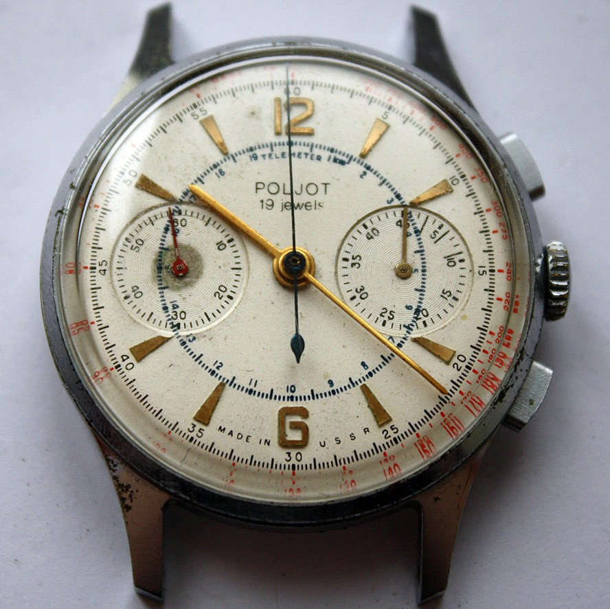 Soviet vintage poljot 3017 military chronograph watch all russian watches for Foljot watches