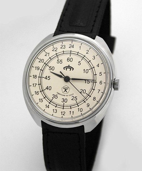 Raketa 24-hour mechanical watch USSR (white) RARE!