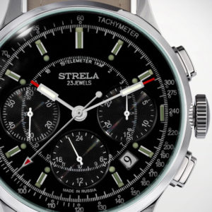 Strela Poljot 31681 Military Chronograph Watch Black