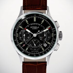 Russian Mechanical Chronograph Watch POLJOT STRELA 31681 Black