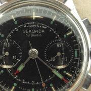 Soviet Vintage Sekonda 3017 Russian Military Chronograph Watch