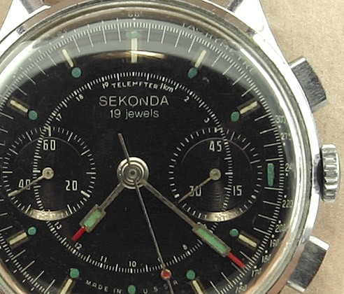 Soviet Vintage Sekonda 3017 Russian Military Chronograph Watch