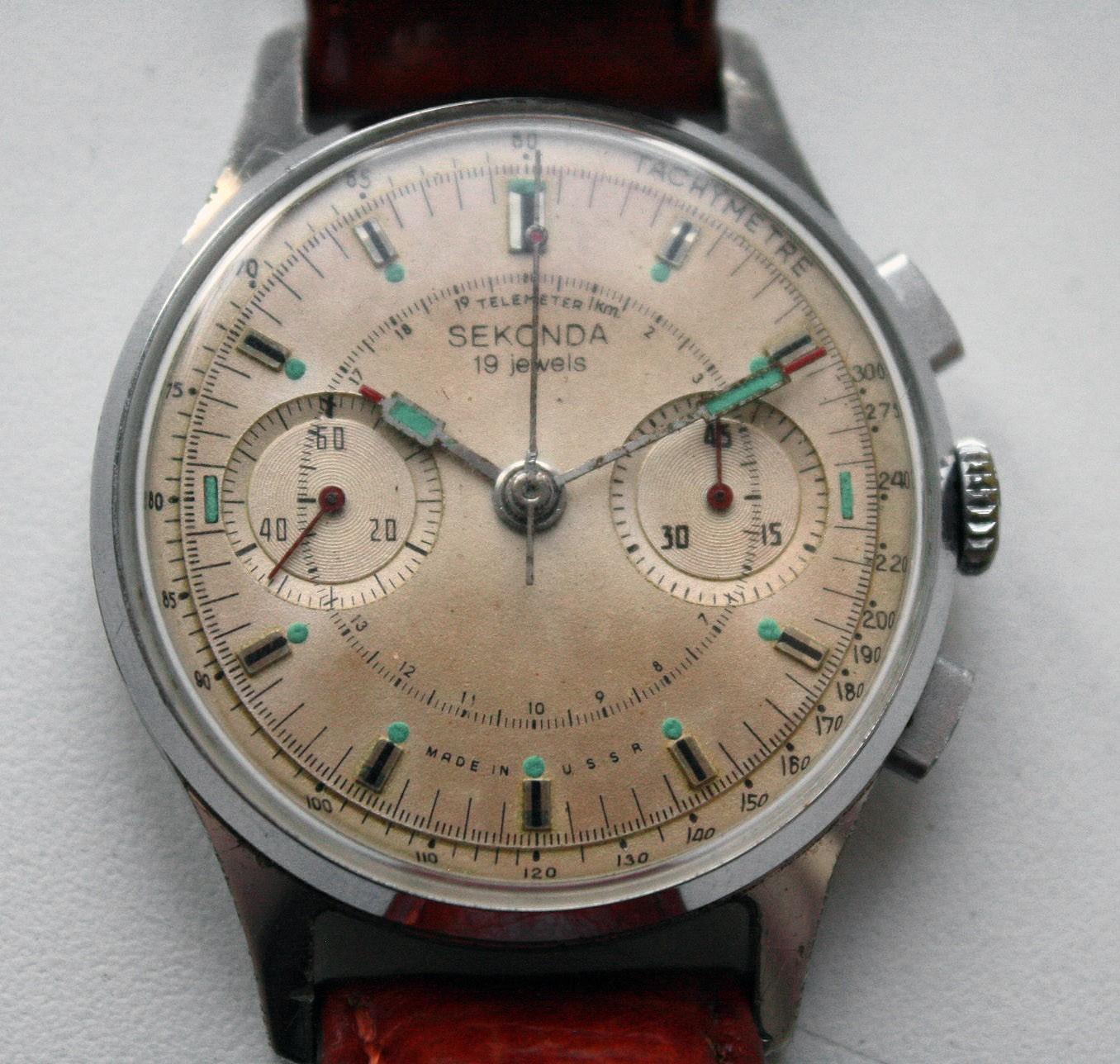 3806442381b Soviet Vintage Sekonda 3017 Russian Military Chronograph Watch