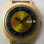 Soviet mechanical watch Slava 2428H Olympic Games Moscow USSR 1970s