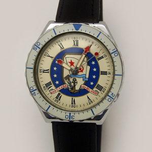 Soviet quartz watch Slava Navy USSR & USN Belknap 1989