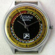 Soviet quartz watch Slava 3056A Runner USSR 1980s