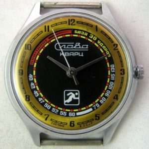 Soviet quartz watch Slava 3056A Runner USSR 1980s