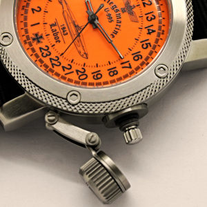 24 hour watch, Submarine U-995 Laboe Orange 47 mm