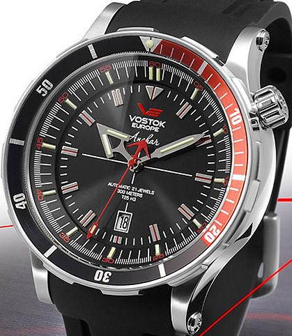 Vostok europe anchar diver watch nh25a 5105141 all russian watches for Vostok europe watches