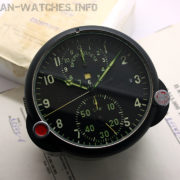 Russian aviation clock with chronograph AChS-1 (box, papers)