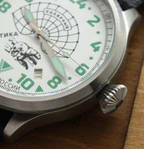 Russian 24-hours mechanical watch POLAR BEAR Arctic 45 mm