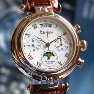 poljot buran moonphase watch