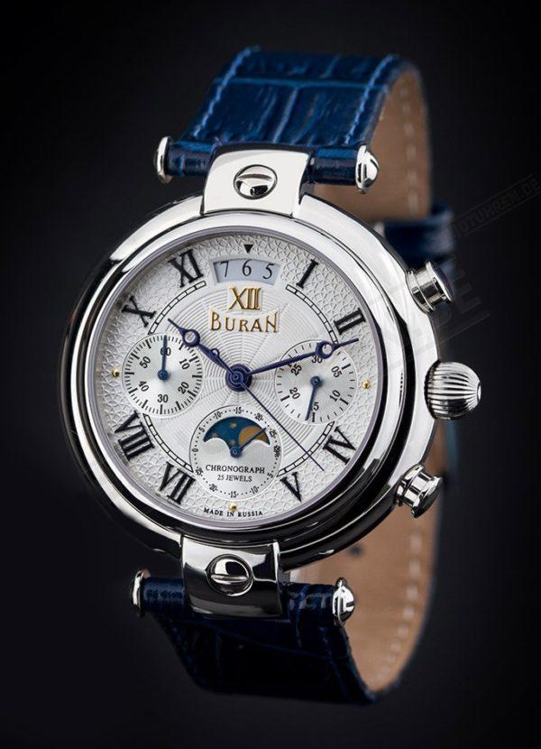 Russian Chronograph Watch, BURAN 31679 Moonphase