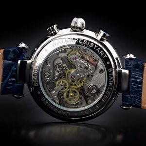 Russian Chronograph Watch BURAN 31679 Moonphase Guilloche