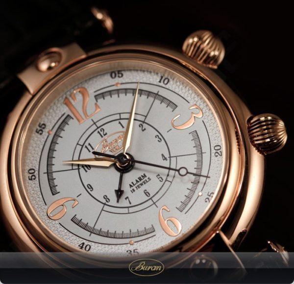 Russian Mechanical Alarm Watch BURAN V.M. 2612 Basilika