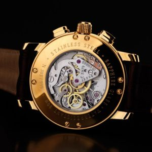 Russian Chronograph Watch BURAN V.M. 31679 Moonphase Gold