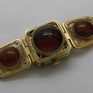 Russian ladies watch Chaika Natural Baltic Amber Stone