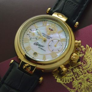 Russian chronograph watch Poljot 3133 PRESIDENT PUTIN Perl2