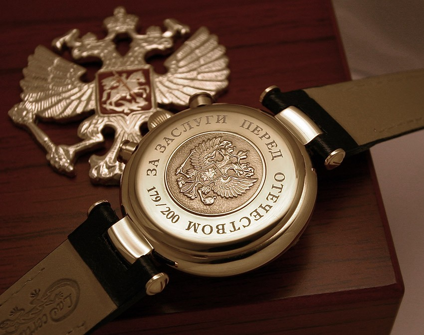 Russian chronograph watch poljot 3133 president putin all russian watches for Foljot watches