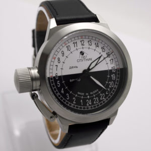 Russian 24-hours automatic watch Sputnik 1957 Day & Night 45 mm
