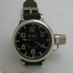 russian diver watch with submarine