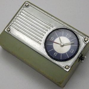 Soviet electro-mechanical alarm clock Luch USSR 1970s