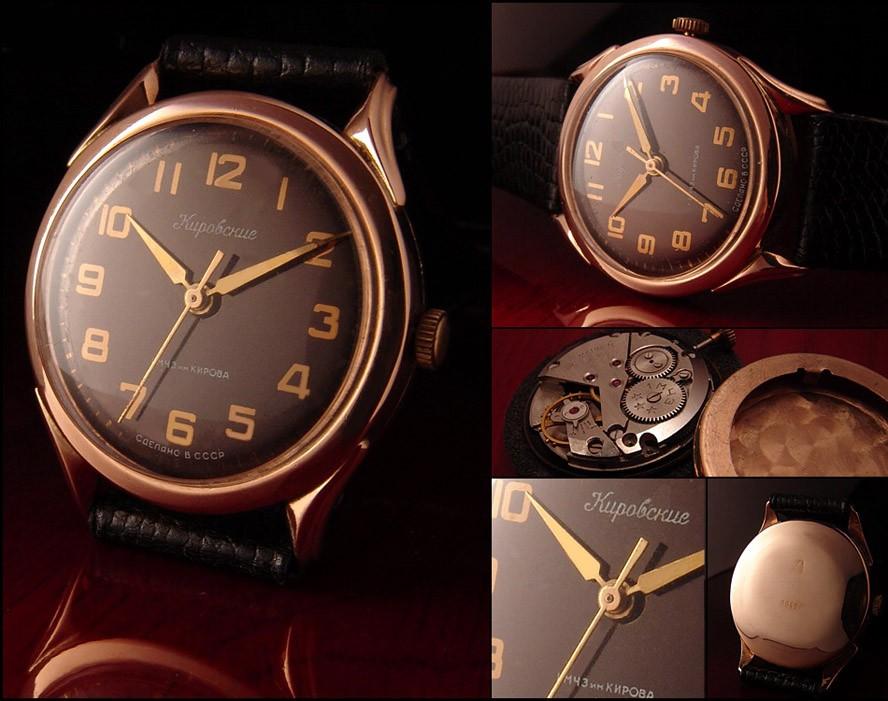 Soviet Vintage Kirovskie Poljot Watch Solid Gold 583 (14K)